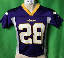J555 NFL Minnesota Vikings Adrian Peterson #28 Reebok Jersey Youth Small 8