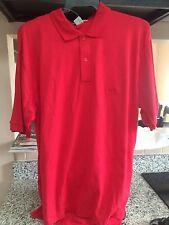 Vintage Classic Cotton Blend Golf/Polo Shirt-Red