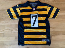 Nike On Field NFL Football Jersey #7 Steelers Roethlisberger Youth Large M❄️