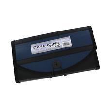 12 Pocket Proline Check Size Expandable File Folder, 12 Tabs, Navy, EA
