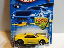 2002 Hot Wheels #137 Yellow Ferrari 348 w/3 Spoke Wheels