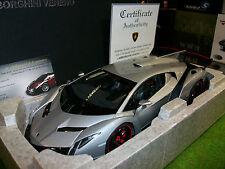 LAMBORGHINI VENENO Gris Salon Genève 2013 o 1/18 AUTOART 74506 voiture miniature