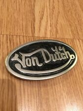 Vintage Officiel Original Véritable Von Dutch Motard Punk Rock Patineuse Ceinture à Boucle