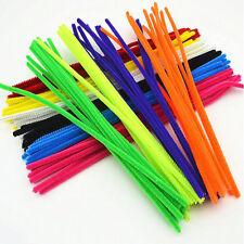 100pcs Twistable Chenille Stems Sticks Kids DIY Crafts Supplies Educational Toys