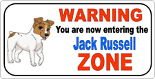 """11"""" x 6""""  JACK RUSSELL ZONE - METAL SIGN - DOGS PUPS PUPPY  PETS  GUARD  376"""