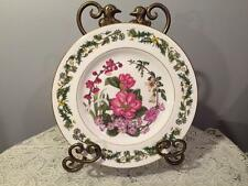 "ROYAL WORCESTER HORTICULTURAL SOCIETY 9"" PLATE ""WINTER FLOWERS"" #4 SIGNED"