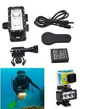 30m Underwater Waterproof LED Video Dive Light For GoPro Hero Xiaomi Yi Camera