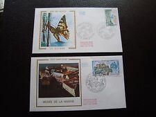 FRANCE - 2 enveloppes 1er jour 1976 (guyane/musee atlantique) (cy93) french