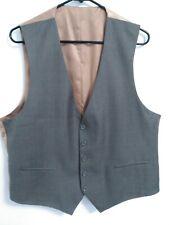 Caravelli Collezioni Mens Size 44S Taupe Gray Copper Brown Button Up Suit Vest