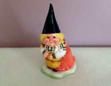 Gorham Unieboek Htf 1980 Female Gnome With Straw Basket