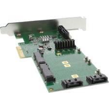 Inline PCI-Express Carte - 4x SATA 6gb/s, RAID 0,1,10 JBOD, 4x SATA + 2x mSATA