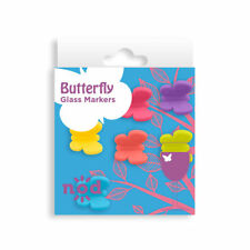 Nod Butterfly Silicone Wine Glass Charms / Drink Markers - Set of 6