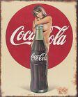 Vintage 8 x10 aluminum  soda sign reproduction
