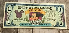 1993 A Series $1 Disney Dollar Mickey Mouse 65th Birthday Anniversary Bill