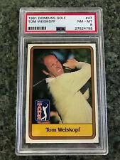 1981 Donruss Golf Tom Weiskopf PSA 8 Ohio State Buckeyes