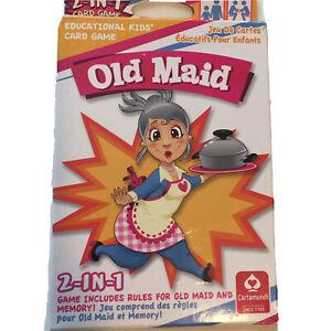 Educational CartaMundi 2-in-1 Card Game Old Maid Memory Bilingual French English