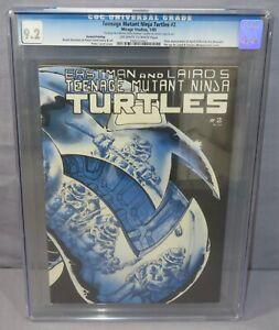 TEENAGE MUTANT NINJA TURTLES #2 Second Print, Signed CGC 9.2 NM- Mirage 1985