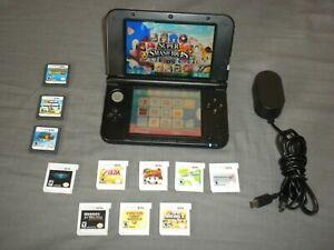 Nintendo 3DS XL Mario & Luigi Dream Team Silver Console &  Games!