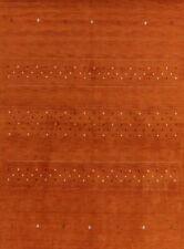 ORANGE Abstract Gabbeh Tribal Oriental Area Rug Hand-made Wool Carpet 8'x11'