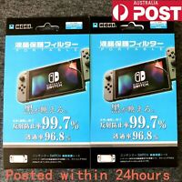 2 Pcs New Clear Hori LCD Screen Protector Film for Nintendo Switch Console