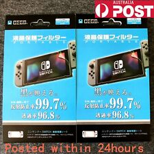 2 Pcs Clear Hori LCD Screen Protector Film for Nintendo Switch Console