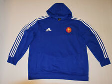 ADIDAS  hoodie FRANCE sweat longsleeve xxl 2XL blue RARE hooded track