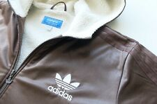 Rare Adidas Chile '62 hooded Sherpa lined thick Jacket | Brown L