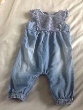 Baby Girls Size 3-6 Months Denim Playsuit