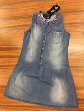 Abito corto Mini Dress vestito Jeans Slavato con Strass ODI ET AMO Tg.Medium