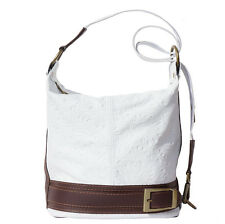 Backpack Purses Bag Italian Genuine Leather Hand made in Italy Florence 300S wh