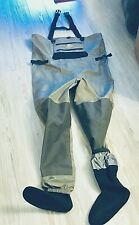 Pre-Owned White River Fly Shop ECO-CLEAR Breathable Men's Waders Sz M  Silver