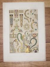 Orfevrerie Joaillerie XVIe Siecle RACINET LITHOGRAPHIE Art Decoratif Deco 1870