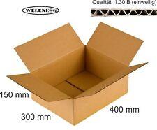 80 Faltkartons 400x300x150mm B-410g/m2  Versandkarton Falt Kartons [ BRAUN ]