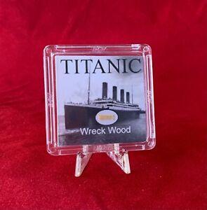 RMS Titanic Wreck Wood Relic w/ COA & stand - White Star Line Shipwreck Artifact
