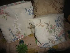SPRINGMAID CREAM BLUE PINK GREEN FLORAL (2PC) KING FLAT & FITTED SHEET