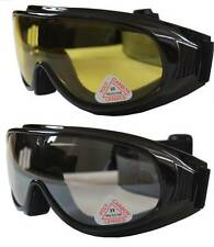 2 pcs Andevan™ Ski / Motors Goggles cover/wear over Rx glasses - Clear & yellow