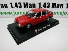 Ap30 car 1/43 ixo auto plus: talbot 150 gt 1982 red