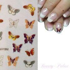 Nagel Sticker Nailart Tattoo Aufkleber 3D Design auch für Fußnägel ButterflyY202