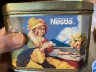 Vintage Nestle Tin With Hinged Lid, The Tin Box Company Of America, Girls Bonnet