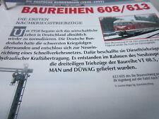 Deutsche Eisenbahngeschichte N DB 1949-1993 Baureihe 608, 613 ex  VT 98,5