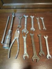 Assorted End Wrenches and Other Tools Car and Motorcycle Lot of 12.