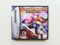 Fire Emblem Requiem Game / Case Gameboy Advance GBA - English Fan Made Mod (USA)
