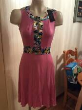 NEW NWT BCBG SOFT PINK SLEEVELESS DRESS SIZE SMALL S FLORAL DETAILS WOMEN