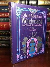 Alice in Wonderland & Through Looking Glass New Sealed Leather Bound Collectible