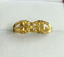 24K Solid Pure Gold Diamond Cut Band Ring 2.64 Grams. Size 6.75