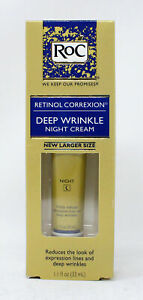 ROC Retinol Correxion Deep Wrinkle Night Cream - 1.1 oz Tube New Larger Size