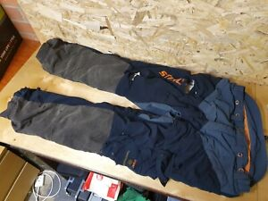 Stihl Hi Flex Type C Class 1 Tree Surgeon Chainsaw Trousers XL 38-40 well used