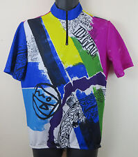 Vtg Cycling Retro Jersey Top Shirt Peace On Earth Trikot Maglia M Medium