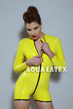 100% Sexy Rubber Outwear Tight Fit Latex Catsuit Gym Style Comfortable Outfit
