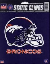 """DENVER BRONCOS Logo STATIC CLING Window NFL Decal  6"""" Show Your Team Support!"""